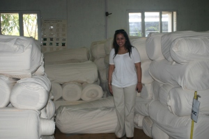 Surrounded by delicious, pure organic cotton!